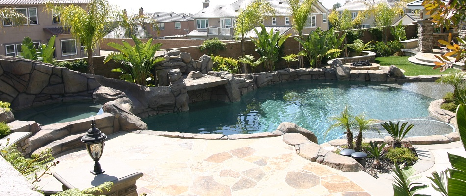 Swimming Pool remodeled in Orange County California