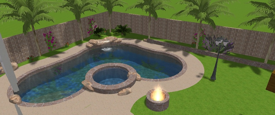 Using 3d computer aided designs, we can design your next swimming pool and landscaping project, you can preview it before we even build it